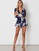 preiswerte Damen Overalls & Strampler-Damen Jumpsuit Blumen V-Ausschnitt