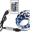 זול מטען כבלים ומתאמים-0.5 מ ' סרטי תאורה RGB 30 נוריות 5050 SMD RGB שלט רחוק / ניתן לחיתוך / נדבק לבד 5 V 1set / החלפת צבעים