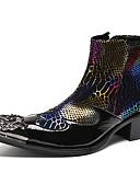 お買い得  新着 メンズシャツ-男性用 Fashion Boots ナパ革 秋 / 冬 ブーツ ブーティー/アンクルブーツ ブラック / レッド / パーティー