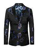cheap Men's Blazers & Suits-Men's Club Punk & Gothic Street chic Plus Size Blazer Oversized Print