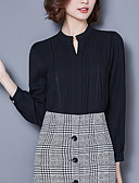 cheap Women's Blouses-Women's Going out Boho Cotton Blouse - Solid Colored / Fall