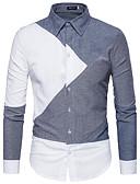 voordelige Herenjacks & jassen-Heren Overhemd Effen Katoen