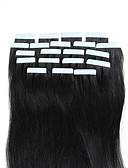 cheap Prom Dresses-Febay Tape In Human Hair Extensions Straight Blonde Auburn Brown Human Hair Extensions Remy Human Hair 16-24 inch Soft Silky Nano Women's - Light Blonde Platinum Blonde Medium Brown