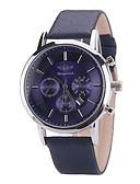 זול שעונים אופנתיים-בגדי ריקוד נשים שעון יד / יהלוםSimulated שעון Chinese לוח שנה PU להקה קסם / יום יומי / בוהמי שחור / כחול / חום