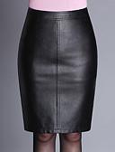 abordables Faldas para Mujer-Mujer Tallas Grandes Corte Bodycon Faldas - Separado, Un Color
