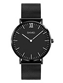 cheap Quartz Watches-SKMEI Men's Wrist Watch Japanese Quartz 30 m Water Resistant / Water Proof Cool Stainless Steel Band Analog Luxury Fashion Minimalist Black / Silver / Rose Gold - Silver Silver / Black Rose Gold