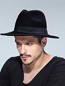 abordables Sombreros de hombres-Unisex Color puro Sombrero Fedora - Tradicional / Retro Un Color