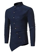 cheap Men's Hoodies & Sweatshirts-Men's Slim Shirt - Floral Standing Collar
