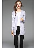 preiswerte Damen Pullover-Damen Langarm Strickjacke-Solide V-Ausschnitt