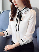 cheap Women's Blouses-Women's Work Blouse - Solid Colored Stand