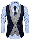 cheap Women's Tops-Men's Slim Vest-Color Block / Sleeveless