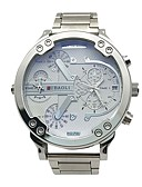 cheap Sport Watches-JUBAOLI Men's Sport Watch Chinese Calendar / date / day / Dual Time Zones / Large Dial Metal Band Charm / Fashion / Unique Creative Watch Gold