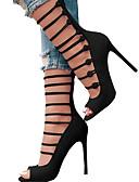 preiswerte Damen Nachtwäsche-Damen Schuhe PU Sommer / Herbst Komfort / Neuheit Sandalen Offene Spitze Schnalle Schwarz / Rot / Party & Festivität / Party & Festivität