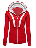 cheap Women's Hoodies & Sweatshirts-Women's Cotton Hoodie - Solid Colored Block