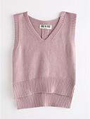 tanie Topy dla dziewczynek-Dzieci Dla dziewczynek Solidne kolory Bez rękawów Bawełna Tanktop / koszulka na ramiączkach