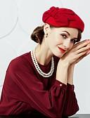 رخيصةأون قبعات نسائية-صوف قبعات / أغطية الرأس مع ورد 1PC زفاف / مناسبة خاصة / حفل / مساء خوذة