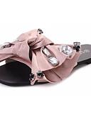 ieftine Ceasuri La Modă-Pentru femei Pantofi Țesătură Vară Confortabili Papuci & Flip-flops Plimbare Vârf deschis Funde Negru / Roz