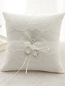 cheap Wedding Dresses-Rhinestone Bowknot Ribbon Tie Flower Ring Pillow Beach Theme Classic Theme All Seasons