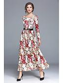 cheap Women's Dresses-SHE IN SUN Women's Street chic Swing Dress - Floral Maxi