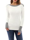 abordables Camisas y Camisetas para Mujer-Mujer Activo Sofisticado Chic de Calle Noche Lentejuelas Camiseta Un Color Bloques