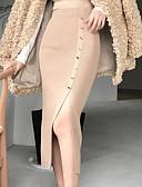 tanie Damska spódnica-Damskie Szykowne i nowoczesne Bodycon Spódnice Solidne kolory Rozcięcie