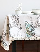 cheap Women's Skirts-Linen / Cotton Blend Rectangular / Square Table cloths Butterfly Eco-friendly Table Decorations 1 pcs