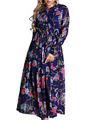 cheap Women's Dresses-Women's Loose Dress Print Low Rise Maxi