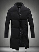 cheap Men's Downs & Parkas-Men's Going out Long White Duck Down Down - Solid Colored