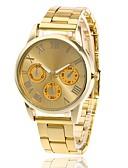 voordelige Quartz horloges-Heren Dames Polshorloge Gouden Horloge Kwarts Metaal Zilver / Goud / Goud Rose Vrijetijdshorloge Analoog Amulet Informeel - Goud Zilver Goud Rose