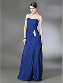 Χαμηλού Κόστους Βραδινά Φορέματα-Ίσια Γραμμή Στράπλες Ουρά Σιφόν Ανοικτή Πλάτη Επίσημο Βραδινό Φόρεμα με Διακοσμητικά Επιράμματα με TS Couture®