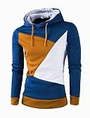 お買い得  メンズフーディー&スウェットシャツ-男性用 長袖 パーカー - カラーブロック, パッチワーク フード付き