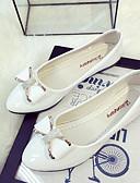 hesapli Bikiniler ve Mayolar-Kadın's Düz Ayakkabılar Fiyonk Patentli Deri Balerin Bahar / Yaz Siyah / Pembe / Badem / EU39