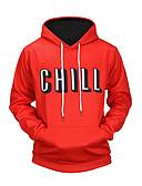 cheap Men's Shirts-Men's Long Sleeve Hoodie - Number, Print Hooded