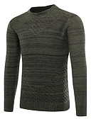 cheap Men's Shirts-Men's Work Pullover - Solid Round Neck