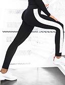 abordables Leggings para Mujer-Mujer Encaje de costura Legging - Un Color Alta cintura