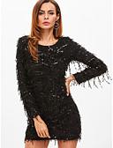 olcso Estélyi ruhák-Női Vékony Nadrág - Egyszínű Fekete Fekete / Flitter