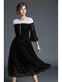 abordables Vestidos de Mujer-Mujer Chic de Calle Algodón Pantalones - Encaje de costura / Bordado / Lolita Encaje Negro / Fiesta