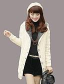 cheap Women's Sweaters-Women's Long Sleeve Wool Long Cardigan - Solid Colored Hooded / Winter