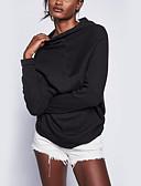 זול נשים טנקים & Camisoles-אחיד - סוודר ארוך שרוול ארוך סגנון רחוב חגים בגדי ריקוד נשים / סתיו / חורף