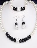 abordables Vestidos de Mujer-Mujer Zirconia Cúbica Conjunto de joyas - Perla Clásico Incluir Blanco Para Boda / Regalo / Pendientes