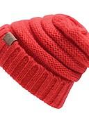 billige Hatter til damer-Unisex Beanie Hatt - Flettet / Elegant, Blomstret / Vinter