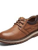 cheap Men's Shirts-Men's Fashion Boots Cowhide Spring Comfort Sneakers Light Brown / Dark Brown
