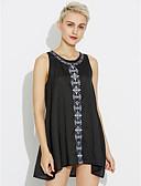 baratos Vestidos de Mulher-Mulheres Para Noite Feriado Evasê Vestido - Estampado Mini