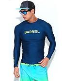 זול טישרטים לגופיות לגברים-בגדי ריקוד גברים מגן מפריחה SPF30, הגנה מפני השמש UV, ייבוש מהיר שרוול ארוך בגדי ים ביגוד חוף מגן מפריחה / צמרות אחיד צלילה / גלישה / מתיחה