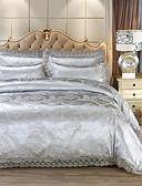 billige Nattøy til damer-Sengesett Luksus Imitasjon Silke Mønstret 4 delerBedding Sets / 500 / 4stk (1 Dynebetræk, 1 Lagen, 2 Pudebetræk)