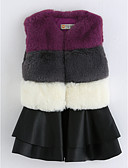 preiswerte Kleidersets für Mädchen-Mädchen Kleid Gestreift Baumwolle Ärmellos Retro Grau