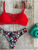 cheap Women's Swimwear & Bikinis-Women's Halter Bikini - Animal Print