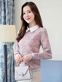 baratos Camisas Femininas-Mulheres Camisa Social Sofisticado Estampa Colorida Colarinho de Camisa