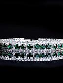 ieftine Rochii de Domnișoare de Onoare-Pentru femei Turcoaz Brățări cu Lanț & Legături Bratari de tenis Ștras Brățări Bijuterii Verde Pentru Nuntă Serată