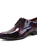 billige Digitale klokker-Herre sko Lakklær Vår / Høst Komfort Oxfords Ankelstøvler Rød / Grønn / Bryllup / Fest / aften / Skrive ut Oxfords